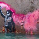 Anche l'arte di Bansky annega