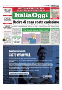 italia oggi prima pagina 25 marzo 2020