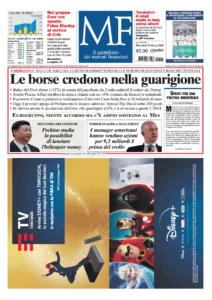 Milano Finanza prima pagina 25 marzo 2020