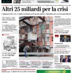 il Corriere della Sera prima pagina 26 marzo 2020
