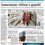 Corriere del Veneto prima pagina 26 marzo 2020