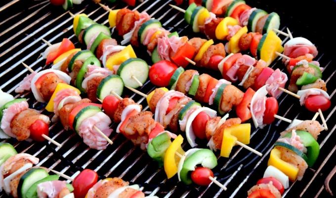 Spiedino grigliata di Pasquetta Verdure Carne