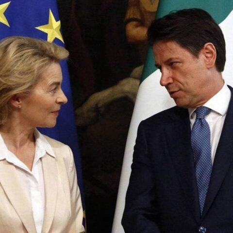 Funerale dell'Europa Conte e ursula von der lyen