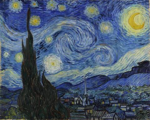 Van Gogh Notte Stellata Foto da Google Art Project