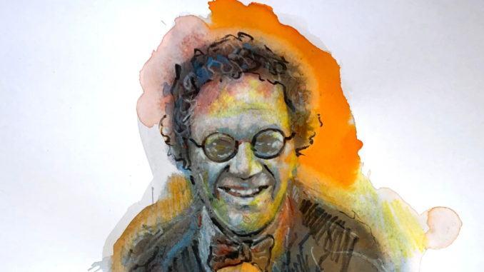 Philippe Daverio in un ritratto di Mario Vespasiani