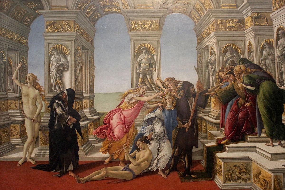 """Sandro Botticelli, """"Calunnia"""", 1496, 62 x 91 cm"""