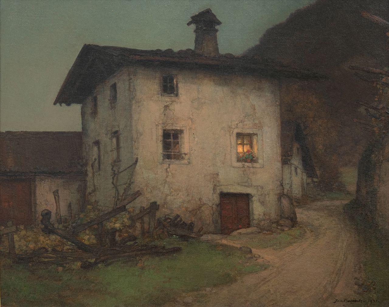 """Jan Bogaerts, """"Crepuscolo vicino a Merano"""", 1931, 40 x 50"""