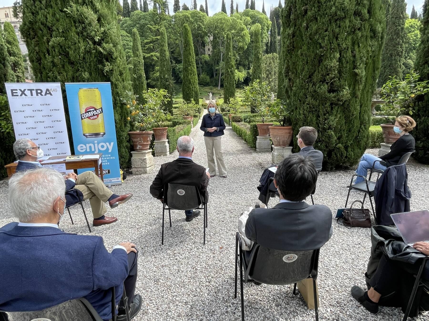 Presentazione a Verona a Giardino Giusti della giornata nazionale delle dimore storiche 2021