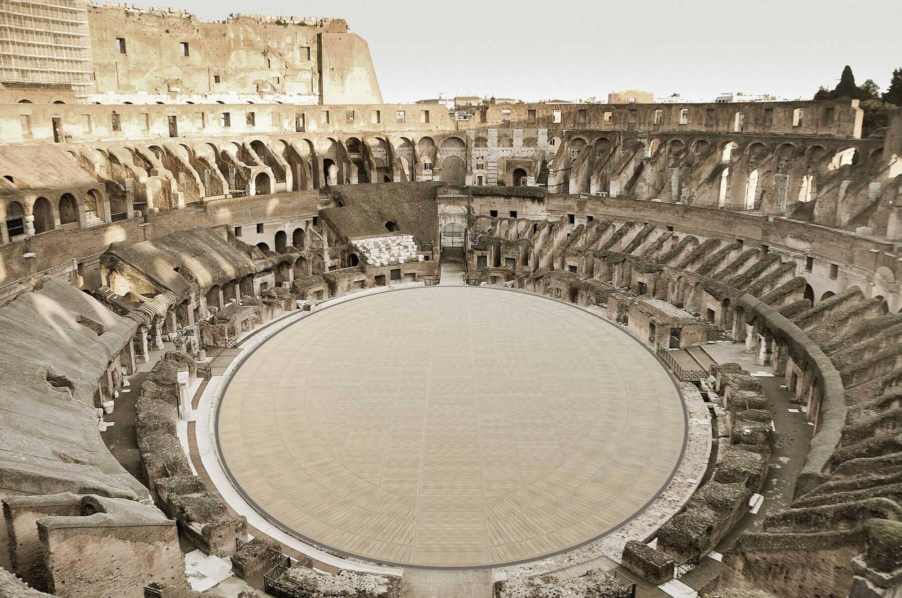 il piano dell'Arena del nuovo Colosseo